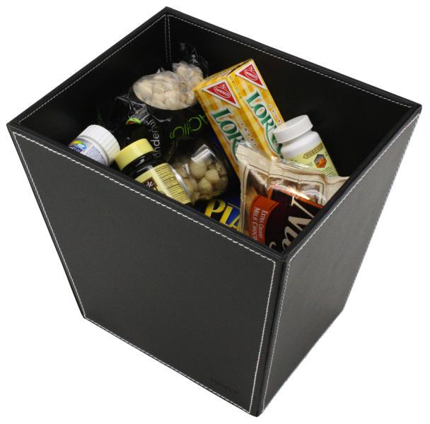 Faux Leather Desk Accessories Multi Purpose Basket